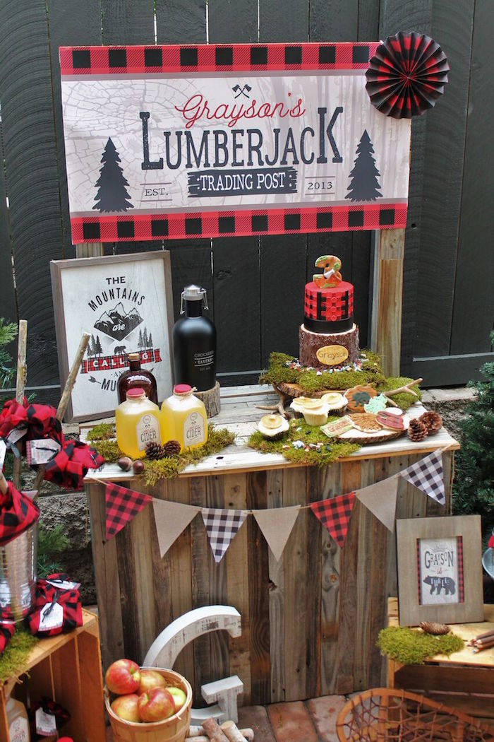 Little Lumberjack Birthday Party on Kara's Party Ideas | KarasPartyIdeas.com (39)