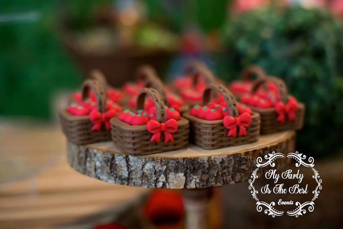 Chocolate picnic baskets from a Little Red Riding Hood Birthday Party on Kara's Party Ideas | KarasPartyIdeas.com (30)