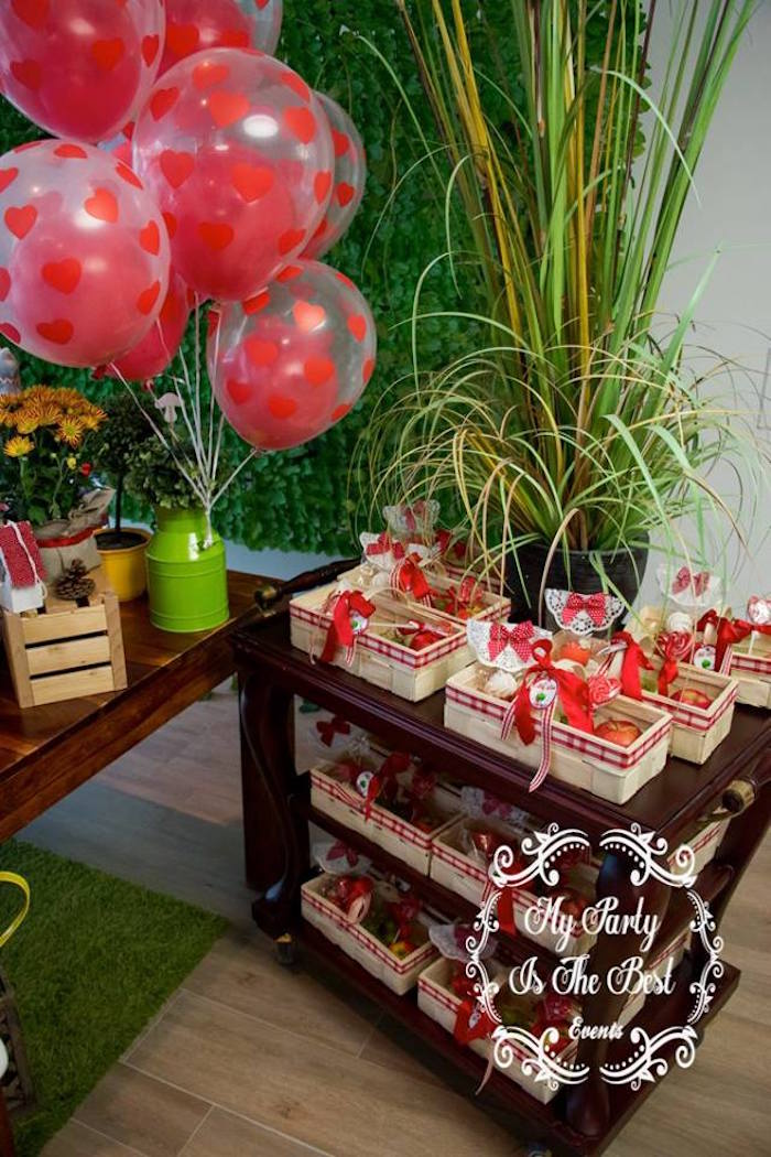 Gift baskets from a Little Red Riding Hood Birthday Party on Kara's Party Ideas | KarasPartyIdeas.com (25)