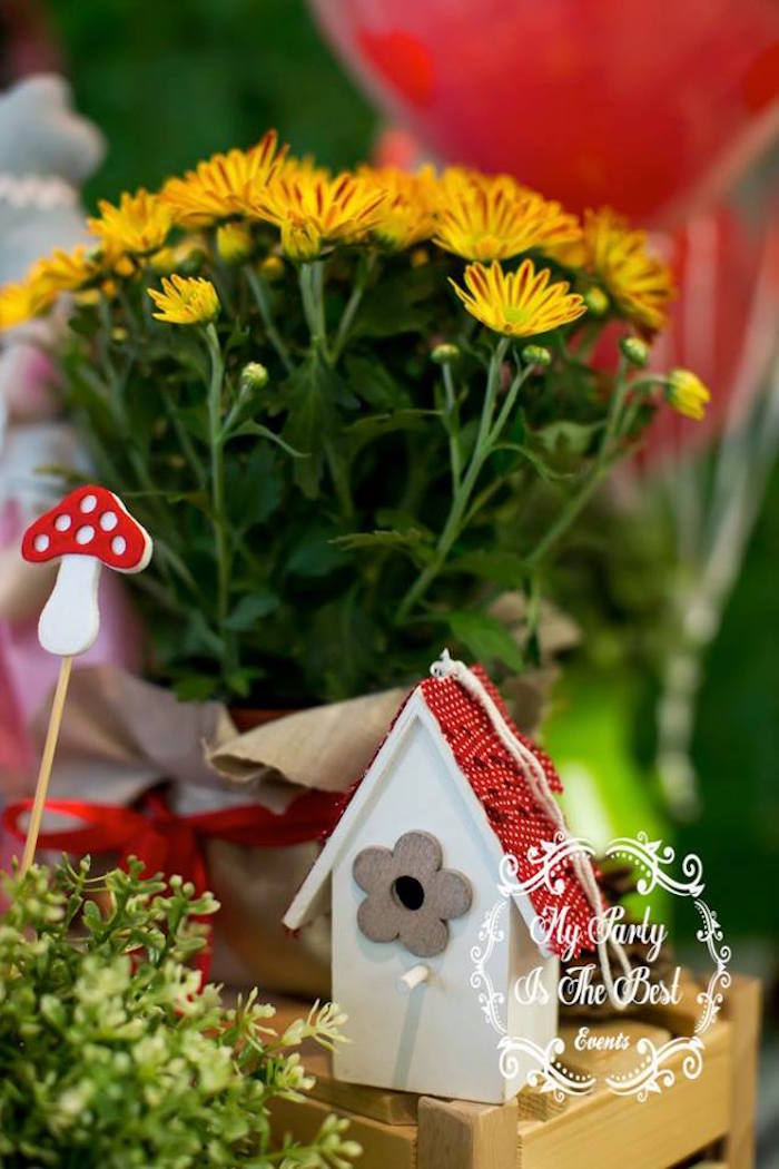 Table decor from a Little Red Riding Hood Birthday Party on Kara's Party Ideas | KarasPartyIdeas.com (12)