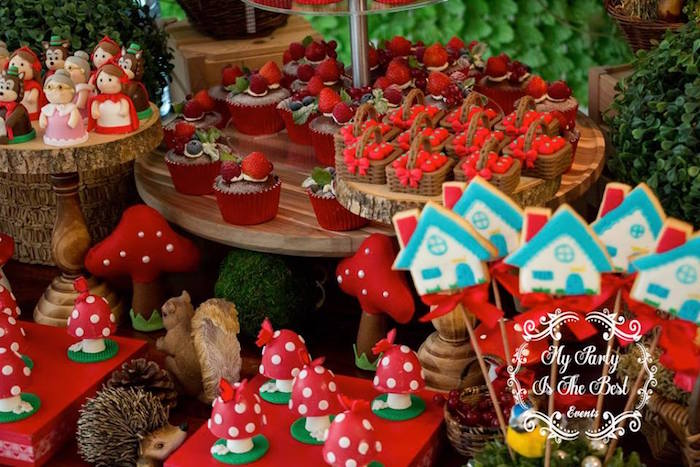 Sweets & treats from a Little Red Riding Hood Birthday Party on Kara's Party Ideas | KarasPartyIdeas.com (8)