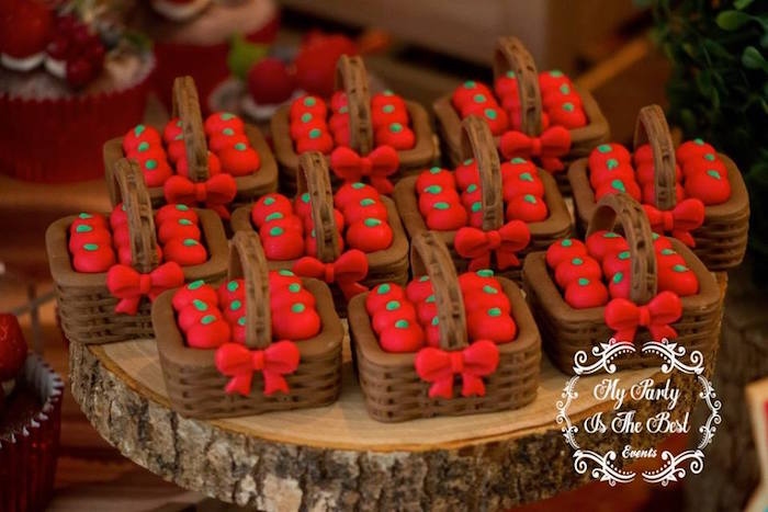Picnic basket chocolates from a Little Red Riding Hood Birthday Party on Kara's Party Ideas | KarasPartyIdeas.com (6)