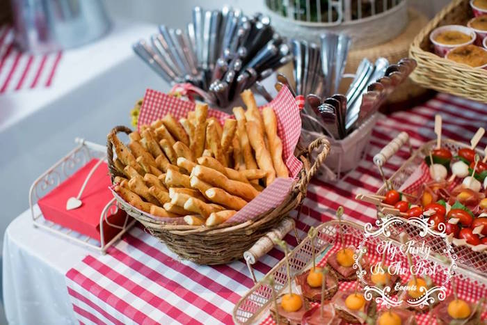 Food table from a Little Red Riding Hood Birthday Party on Kara's Party Ideas | KarasPartyIdeas.com (36)