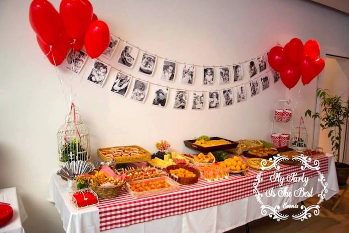 Food table from a Little Red Riding Hood Birthday Party on Kara's Party Ideas | KarasPartyIdeas.com (35)