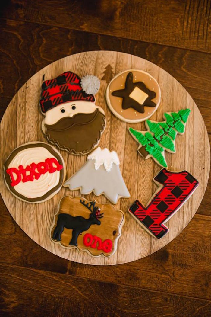 Lumberjack cookies from a Lumberjack Birthday Party on Kara's Party Ideas | KarasPartyIdeas.com (28)