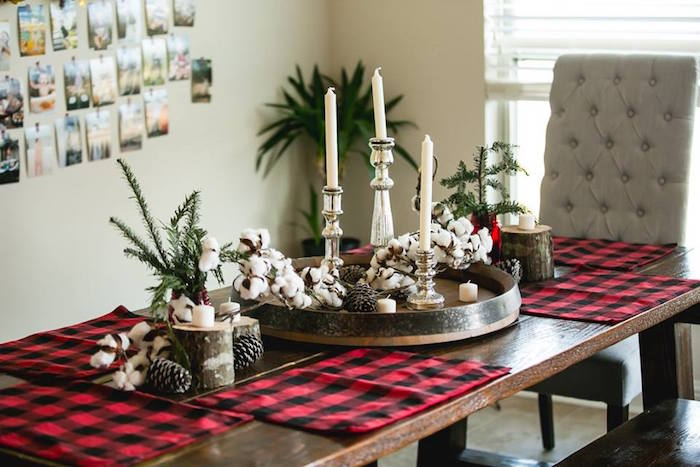 Dining tablescape from a Lumberjack Birthday Party on Kara's Party Ideas | KarasPartyIdeas.com (24)