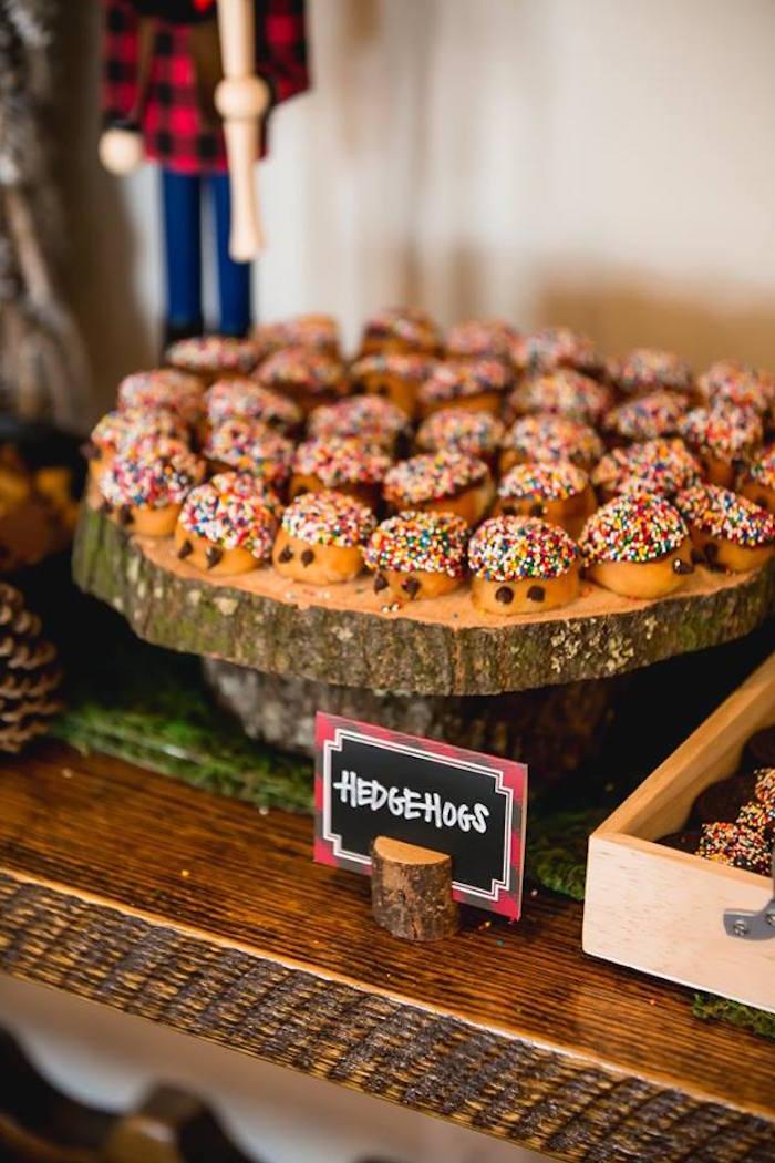 Hedgehog sweets from a Lumberjack Birthday Party on Kara's Party Ideas | KarasPartyIdeas.com (19)