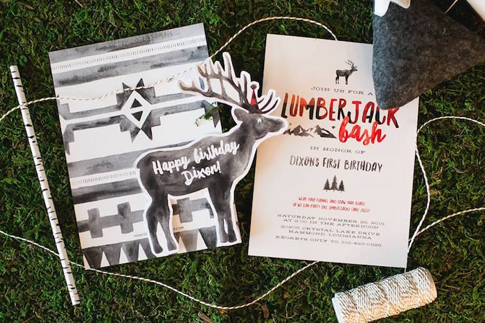 Lumberjack party invitation from a Lumberjack Birthday Party on Kara's Party Ideas | KarasPartyIdeas.com (42)