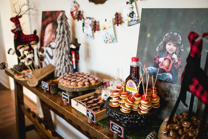 Dessert spread from a Lumberjack Birthday Party on Kara's Party Ideas | KarasPartyIdeas.com (10)