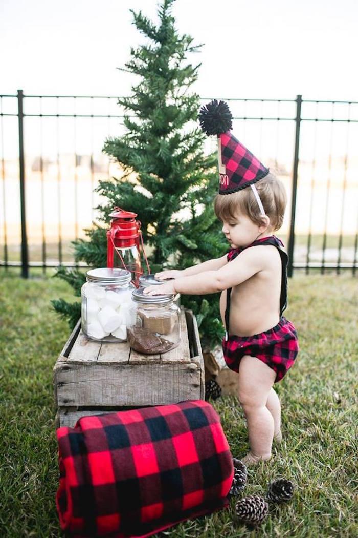 Lumberjack Birthday Party on Kara's Party Ideas | KarasPartyIdeas.com (7)