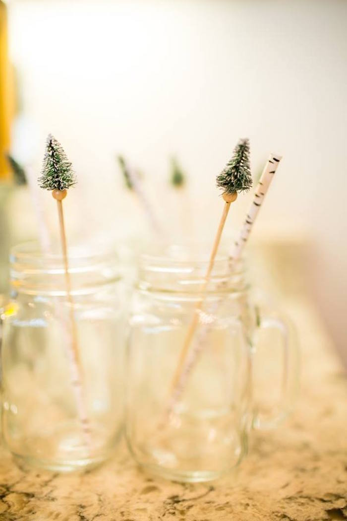 Mason jar drinks from a Lumberjack Birthday Party on Kara's Party Ideas | KarasPartyIdeas.com (40)