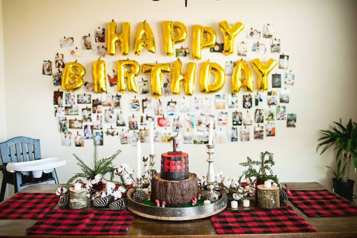 Dessert spread from a Lumberjack Birthday Party on Kara's Party Ideas | KarasPartyIdeas.com (39)