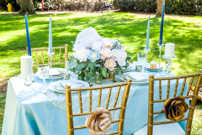 Guest table from a Marie Antoinette Inspired Bridal Shower on Kara's Party Ideas | KarasPartyIdeas.com (25)