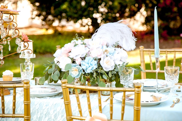 Guest tablescape from a Marie Antoinette Inspired Bridal Shower on Kara's Party Ideas | KarasPartyIdeas.com (15)