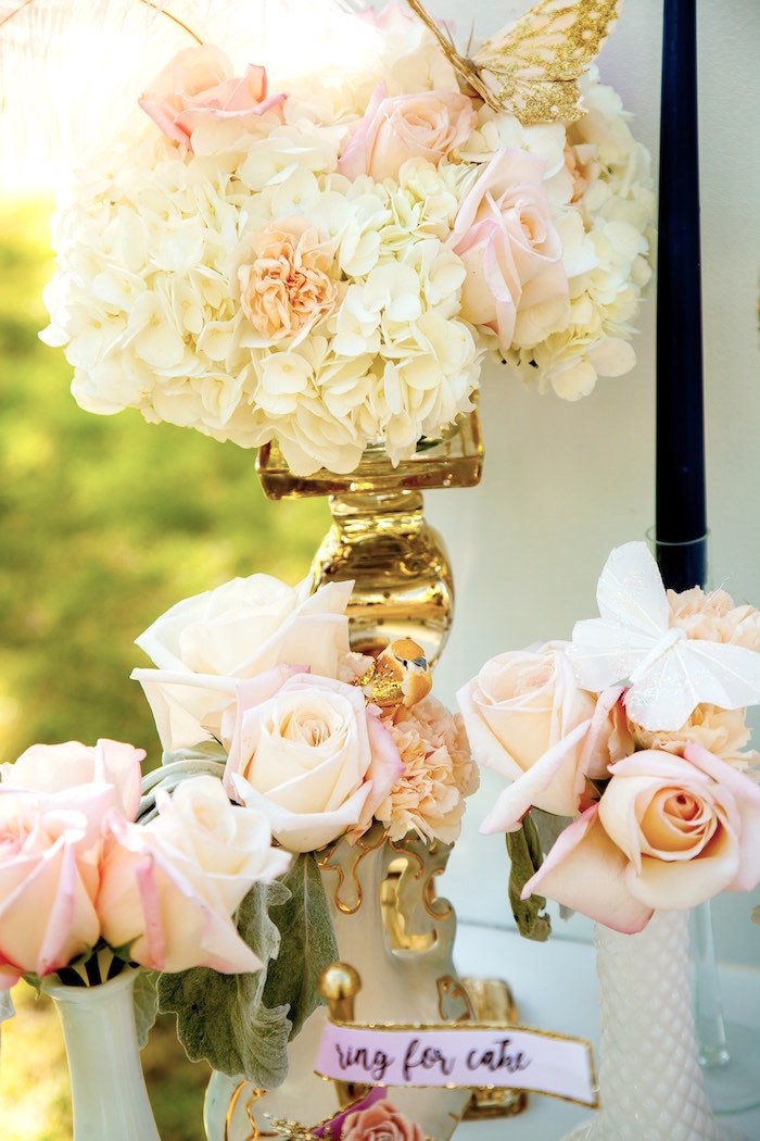 Butterfly blooms from a Marie Antoinette Inspired Bridal Shower on Kara's Party Ideas | KarasPartyIdeas.com (12)
