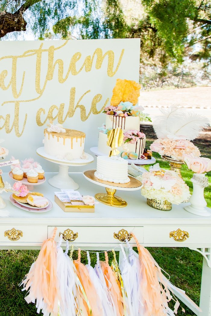 Dessert table from a Marie Antoinette Inspired Bridal Shower on Kara's Party Ideas | KarasPartyIdeas.com (35)