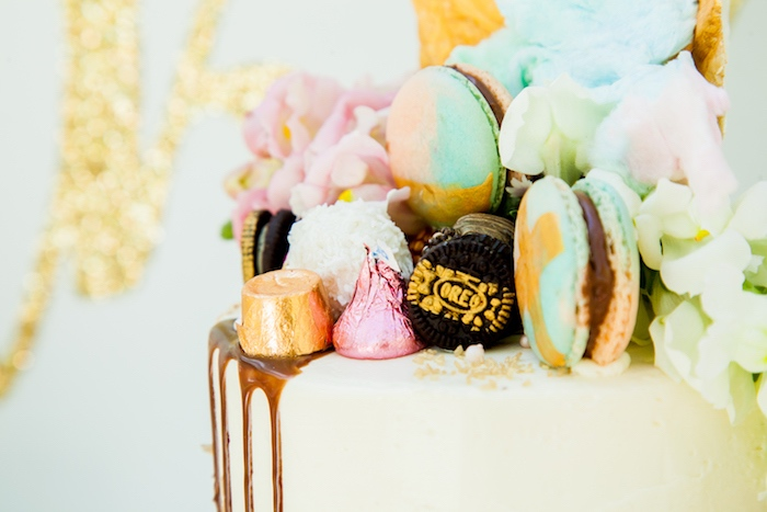 Candy cake top from a Marie Antoinette Inspired Bridal Shower on Kara's Party Ideas | KarasPartyIdeas.com (33)