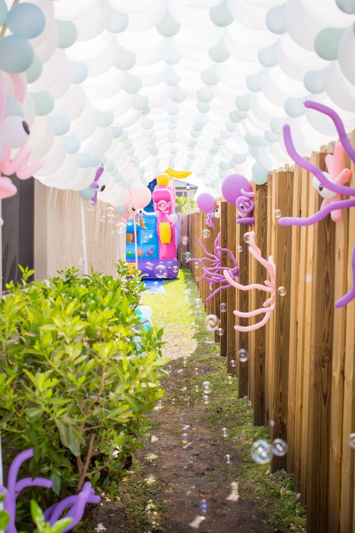 Under the sea balloon entrance from a Mermaid Birthday Party on Kara's Party Ideas | KarasPartyIdeas.com (30)