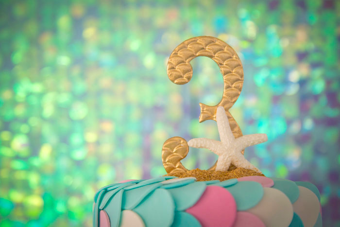 Mermaid-inspired cake topper from a Mermaid Birthday Party on Kara's Party Ideas | KarasPartyIdeas.com (24)
