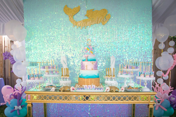 Mermaid Birthday Party on Kara's Party Ideas | KarasPartyIdeas.com (21)