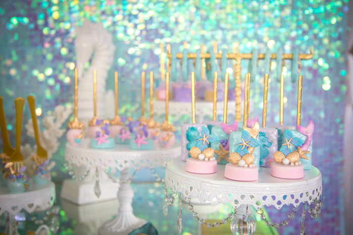 Under the sea sweets from a Mermaid Birthday Party on Kara's Party Ideas | KarasPartyIdeas.com (20)