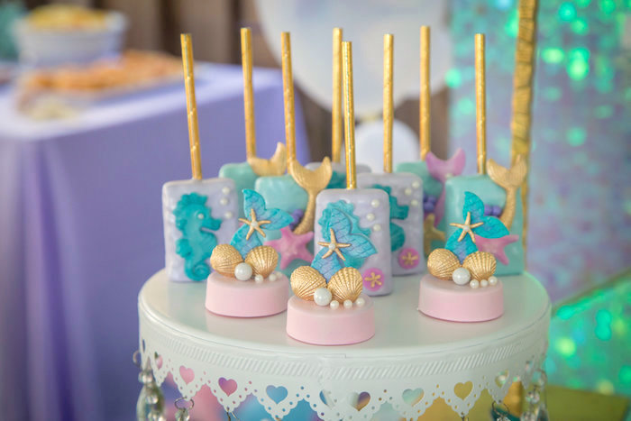 Under the sea sweets from a Mermaid Birthday Party on Kara's Party Ideas | KarasPartyIdeas.com (19)