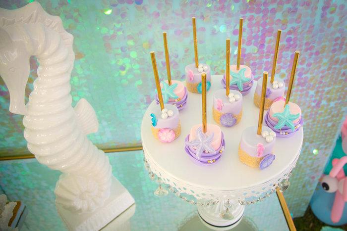 Marshmallow pops from a Mermaid Birthday Party on Kara's Party Ideas | KarasPartyIdeas.com (17)