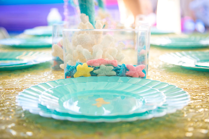 Gummy star fish from a Mermaid Birthday Party on Kara's Party Ideas | KarasPartyIdeas.com (11)