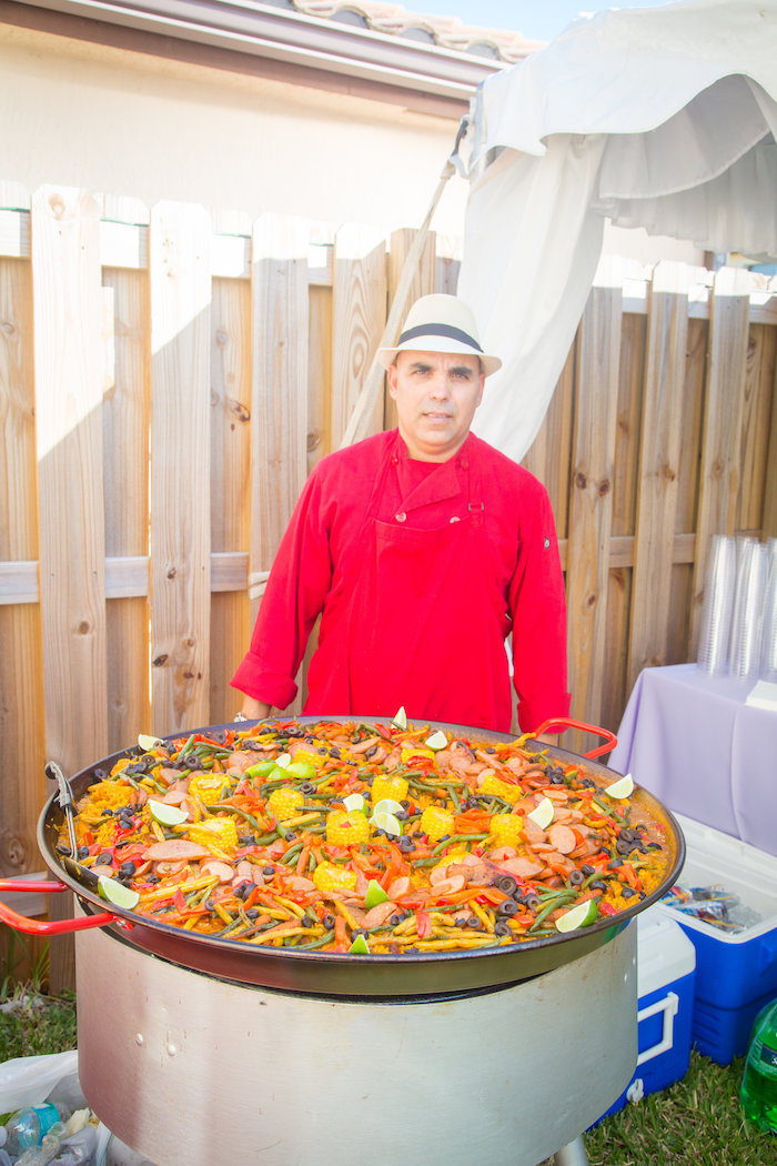 Meat paella from a Mermaid Birthday Party on Kara's Party Ideas | KarasPartyIdeas.com (10)