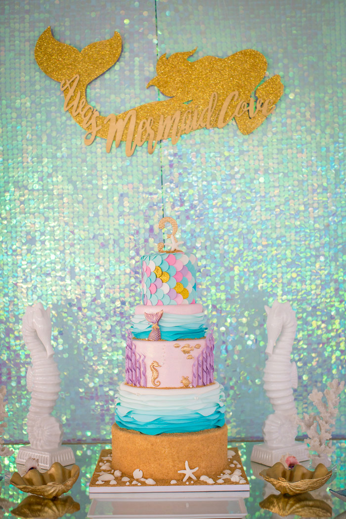 Mermaid Birthday Party on Kara's Party Ideas | KarasPartyIdeas.com (36)