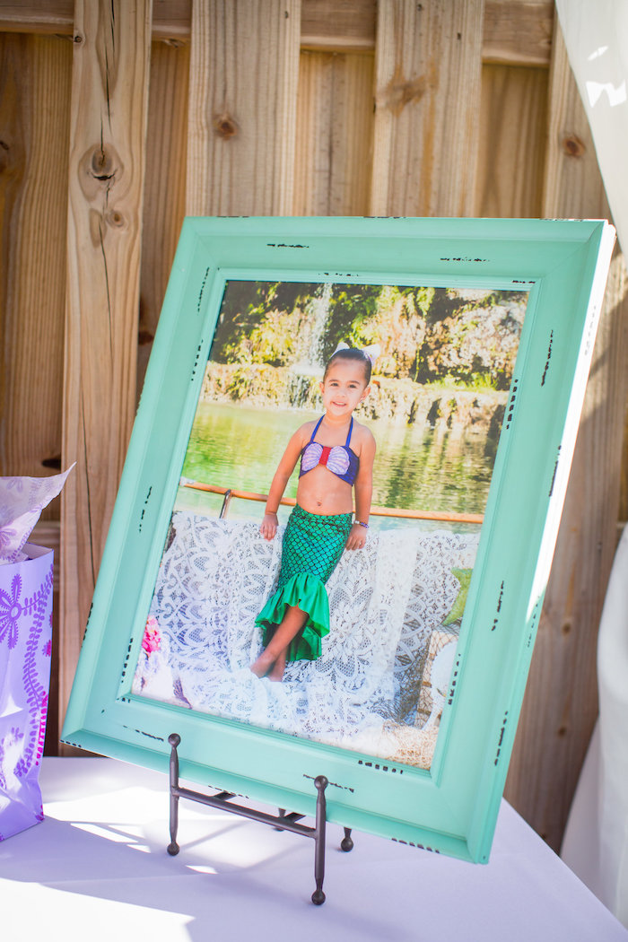 Framed photo from a Mermaid Birthday Party on Kara's Party Ideas | KarasPartyIdeas.com (35)