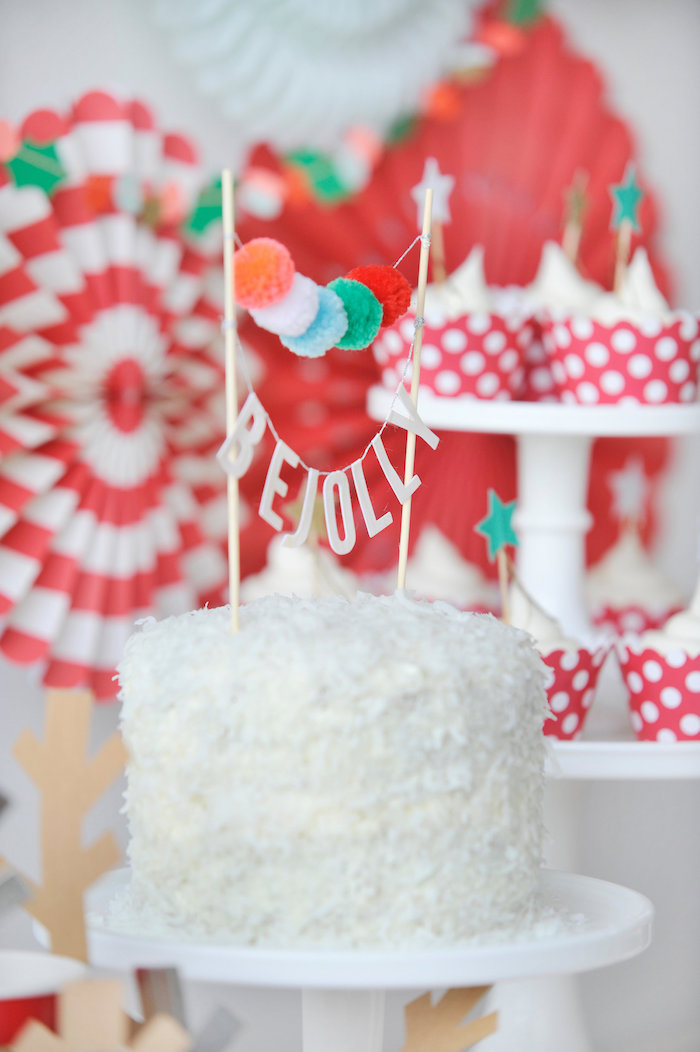 Christmas party cake from a Merry & Bright Christmas Party on Kara's Party Ideas | KarasPartyIdeas.com (25)