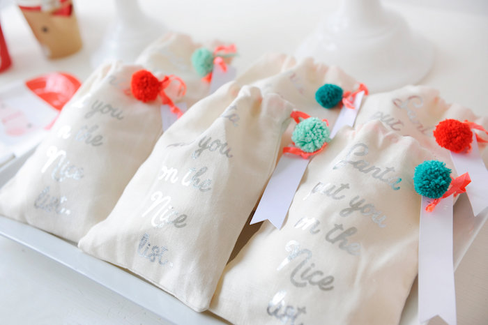 Holiday gift bags from aMerry & Bright Christmas Party on Kara's Party Ideas | KarasPartyIdeas.com (23)