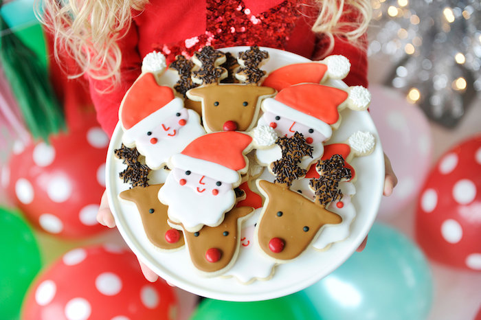 Christmas cookies from a Merry & Bright Christmas Party on Kara's Party Ideas | KarasPartyIdeas.com (17)