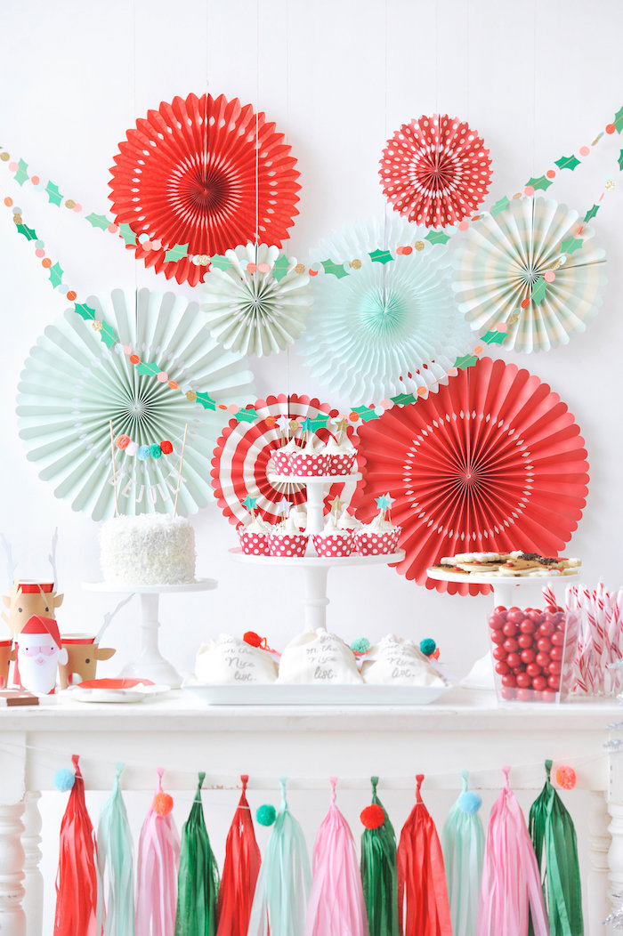 Dessert tablescape from a Merry & Bright Christmas Party on Kara's Party Ideas | KarasPartyIdeas.com (34)