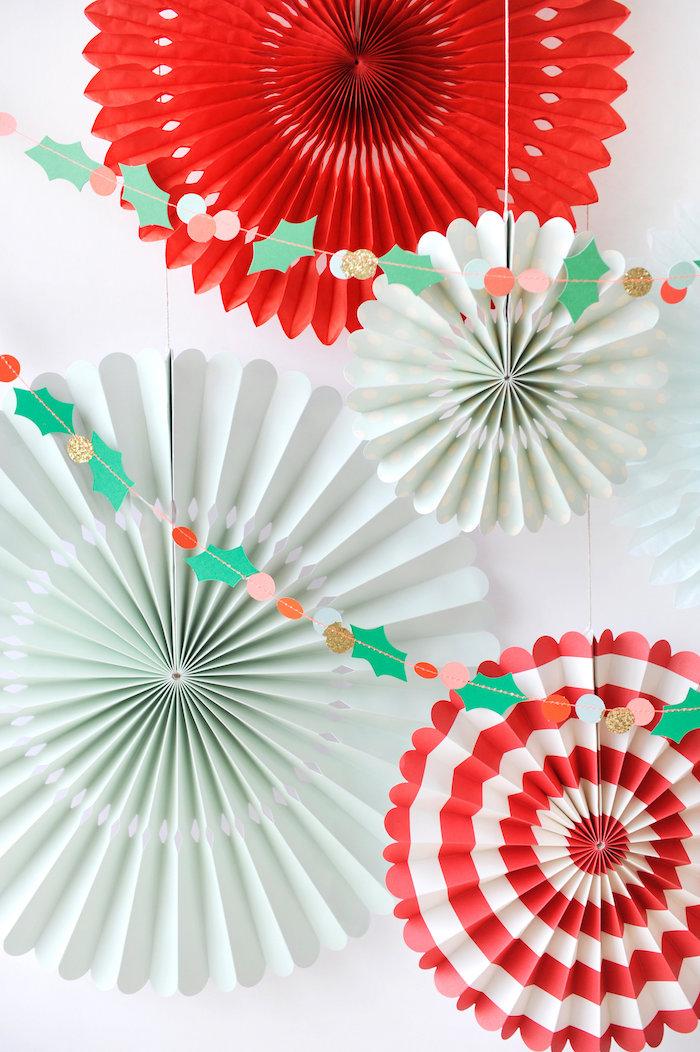 Honeycomb backdrop from a Merry & Bright Christmas Party on Kara's Party Ideas | KarasPartyIdeas.com (9)