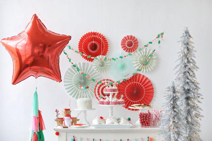 Head dessert table from a Merry & Bright Christmas Party on Kara's Party Ideas | KarasPartyIdeas.com (31)