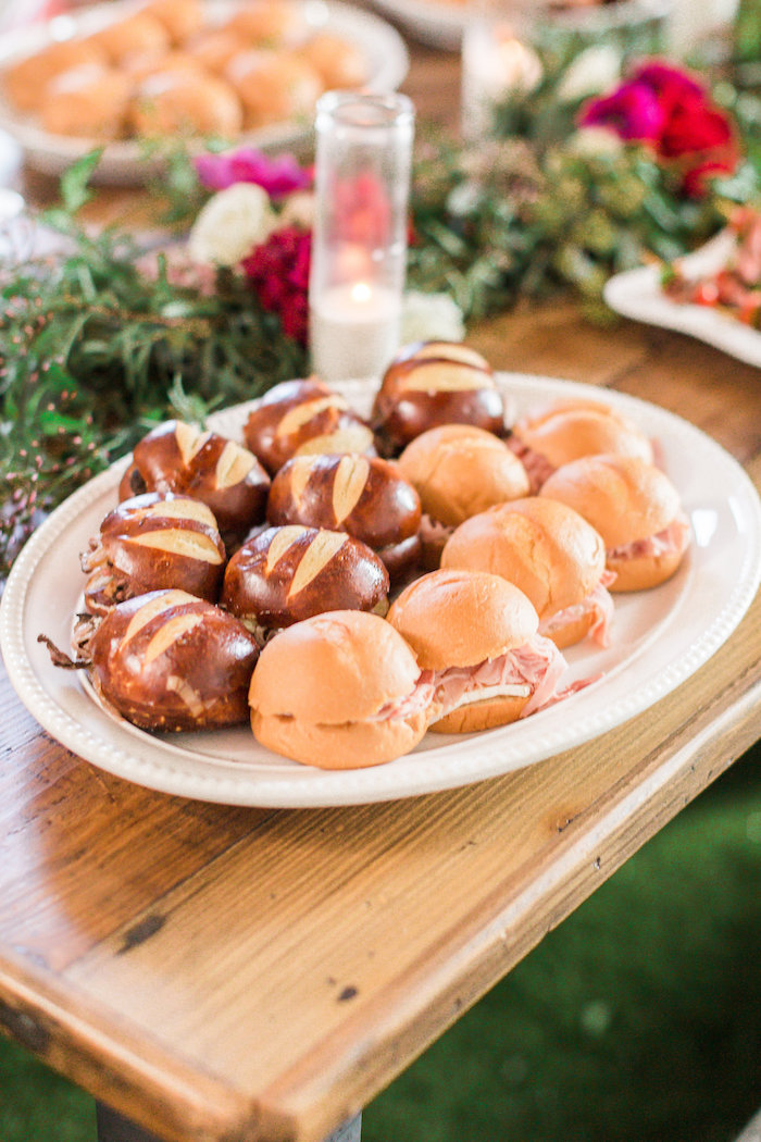 Sandwiches from a Modern Rustic Baby Shower on Kara's Party Ideas | KarasPartyIdeas.com (32)