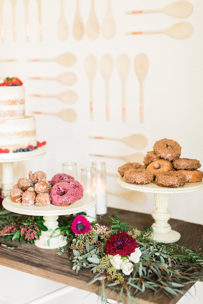 Donuts from a Modern Rustic Baby Shower on Kara's Party Ideas | KarasPartyIdeas.com (30)