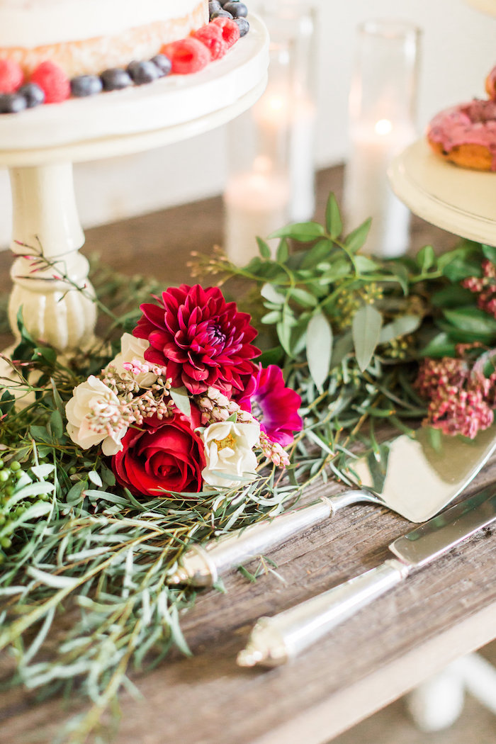 Fresh blooms from a Modern Rustic Baby Shower on Kara's Party Ideas | KarasPartyIdeas.com (25)