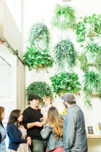 Plant wall from a Modern Rustic Baby Shower on Kara's Party Ideas | KarasPartyIdeas.com (43)