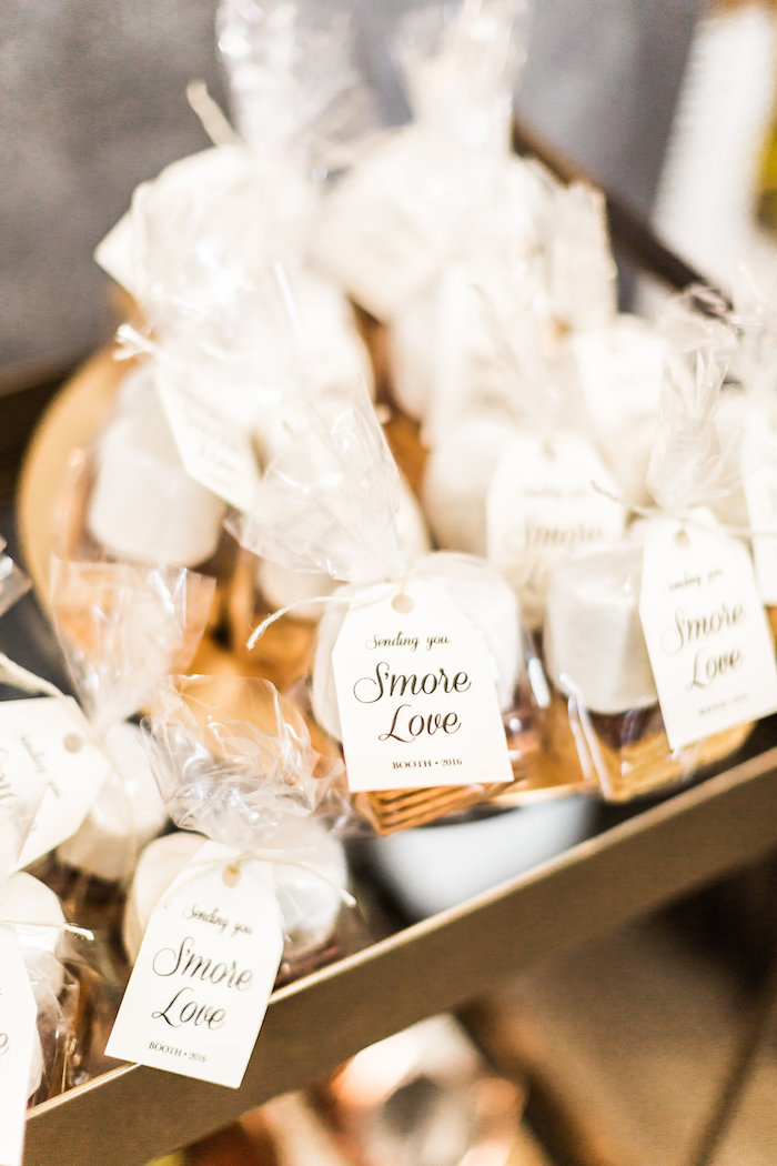 S'more bag favors from a Modern Rustic Baby Shower on Kara's Party Ideas | KarasPartyIdeas.com (21)