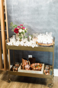 Favor cart from a Modern Rustic Baby Shower on Kara's Party Ideas | KarasPartyIdeas.com (20)