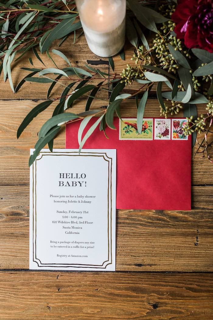 Party invitation from a Modern Rustic Baby Shower on Kara's Party Ideas | KarasPartyIdeas.com (18)
