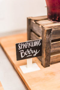 Mini chalkboard label sign from a Modern Rustic Baby Shower on Kara's Party Ideas | KarasPartyIdeas.com (17)