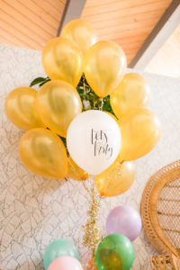 Balloon bunch from a Modern Rustic Baby Shower on Kara's Party Ideas | KarasPartyIdeas.com (13)