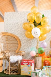 Gift + present station from a Modern Rustic Baby Shower on Kara's Party Ideas | KarasPartyIdeas.com (11)