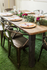 Guest tablescape from a Modern Rustic Baby Shower on Kara's Party Ideas | KarasPartyIdeas.com (36)