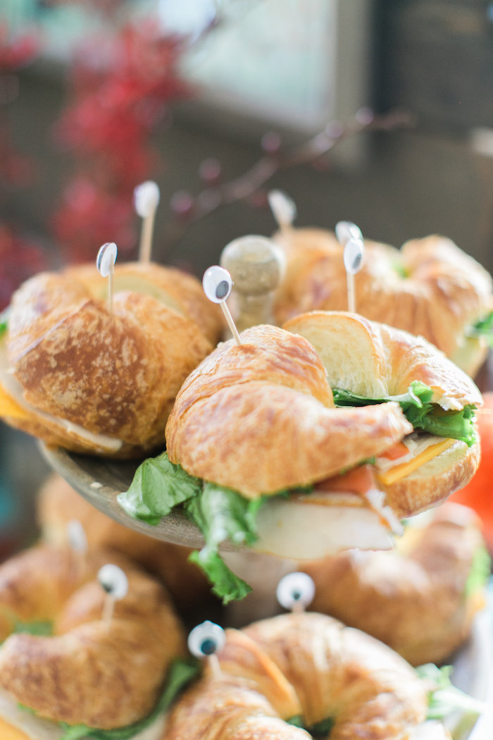 Crustacea sandwiches from a Modern Under the Sea Birthday Party on Kara's Party Ideas | KarasPartyIdeas.com (44)