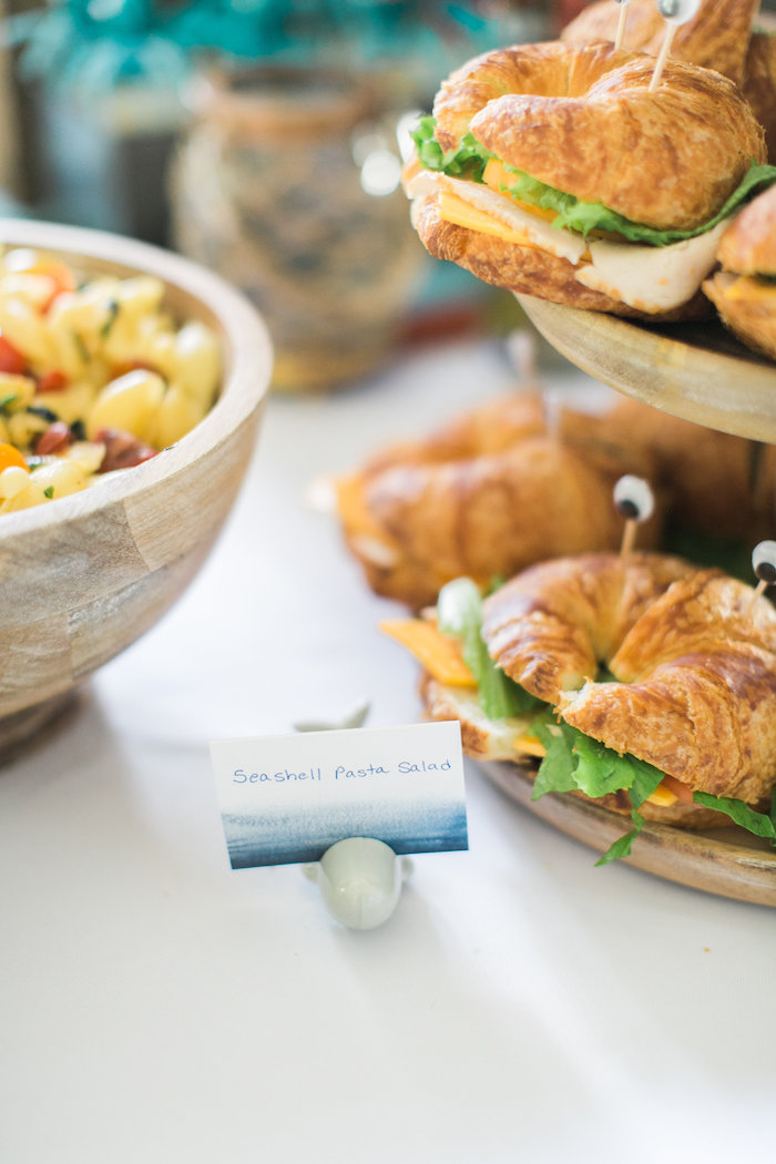 Sandwich label from a Modern Under the Sea Birthday Party on Kara's Party Ideas | KarasPartyIdeas.com (43)